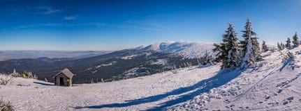Panorama delle montagne di Karkonosze Fotografie Stock Libere da Diritti