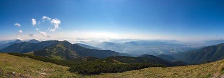 Panorama delle montagne di Mala Fatra alla Slovacchia Immagini Stock Libere da Diritti