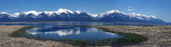 Panorama delle montagne di missione Fotografia Stock