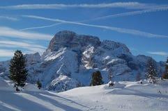 Panorama delle montagne nevose Fotografia Stock