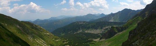 Panorama delle montagne occidentali di Tatras Fotografie Stock
