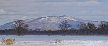 Panorama delle montagne Sikhote-Alin Immagini Stock Libere da Diritti