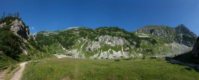 Panorama delle montagne slovene Immagini Stock
