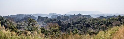 Panorama delle rocce aguzze nel Laos immagine stock libera da diritti