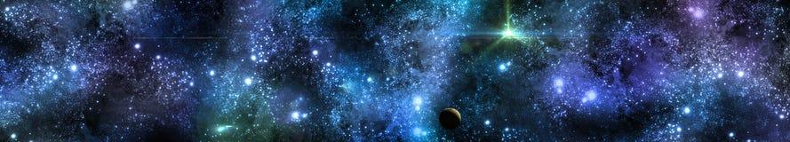 Panorama delle stelle illustrazione vettoriale
