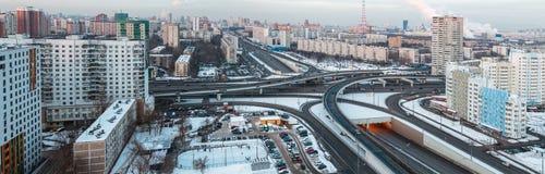 Panorama delle vie di Mosca immagini stock libere da diritti