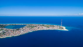 Panorama dello stretto di Messina Fotografie Stock Libere da Diritti