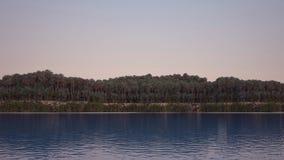 Panorama denny wybrzeże z drzewkami palmowymi Obraz Royalty Free