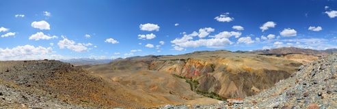 Panorama with deposit of colorful clay Royalty Free Stock Photography
