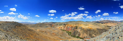Panorama with deposit of colorful clay Royalty Free Stock Photo