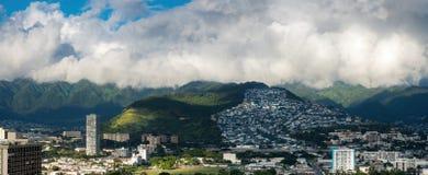 Panorama der Abhang-Ansicht Stockbilder