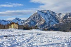 Panorama der Alpen Stockbilder