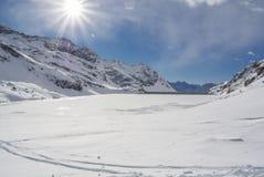Panorama der Alpen Stockbild