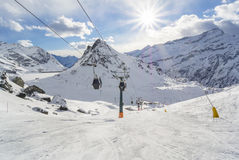 Panorama der Alpen Lizenzfreie Stockfotografie