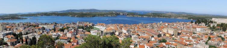 Panorama der alten Stadt. Lizenzfreie Stockbilder