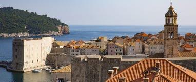Panorama der alten Stadt Dubrovnik in Kroatien stockfotografie