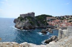 Panorama der alten Stadt von Dubrovnik stockbild