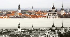 Panorama der alten Stadt von Tallinn, Estland lizenzfreie stockbilder
