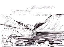 Panorama der Berge