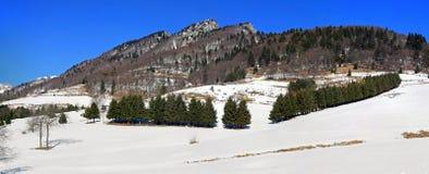 Panorama der Berge der Alpen im Winter Stockfotos