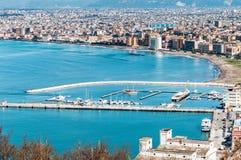 Panorama der Bucht von Neapel lizenzfreie stockfotografie