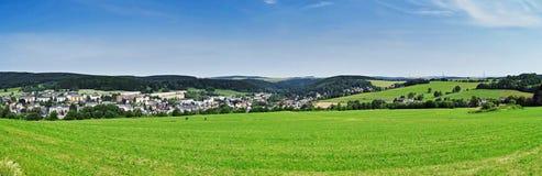 Panorama der Erz-Berge (Sachsen/Deutschland) stockfotos