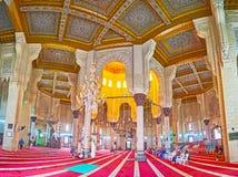 Panorama der Gebetshalle, Abu al-Abbas al-Mursi Mosque, Alexa Stockfotografie