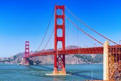 Panorama der Goldtor-Brücke und die andere Seite der Bucht San Francisco lizenzfreie stockfotografie