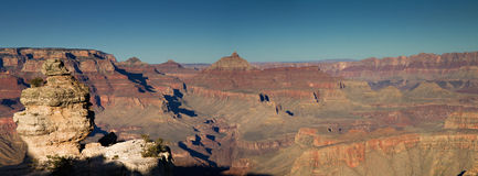 Panorama der Grand- Canyonsüdfelge Stockfotos