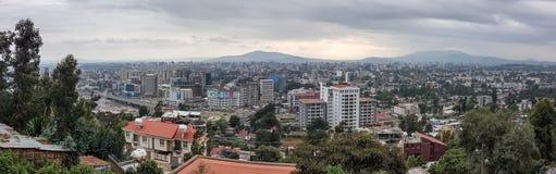 Panorama der Hauptstadt von Äthiopien, Addis Ababa Lizenzfreie Stockbilder