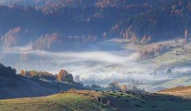 Panorama der Herbstberge. Lizenzfreies Stockfoto