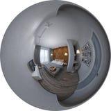 Panorama der Illustration 3d der Innenarchitektur des Schlafzimmers Lizenzfreie Stockfotos