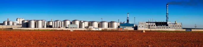 Panorama der Industrieanlage Stockfotografie
