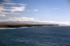 Panorama der Küstenlinie Stockbild