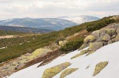Panorama der Karkonosze-Berge stockfoto