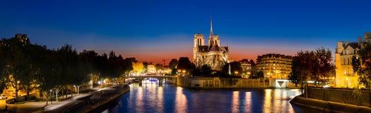 Panorama der Kathedrale von Notre Dame de Paris Lizenzfreie Stockfotografie