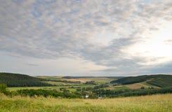 Panorama der landwirtschaftlichen Landschaft Lizenzfreies Stockfoto