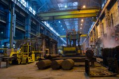 Panorama der Metallurgiewerkstatt Stockbild
