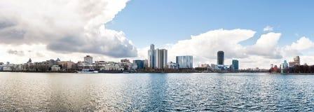 Panorama der Mitte von Yekaterinburg stockbilder