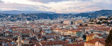 Panorama der Nizza Stadt, französisches Riviera Lizenzfreies Stockbild