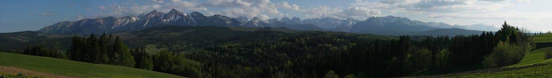 Panorama der polnischen Tatra Berge Lizenzfreie Stockfotografie