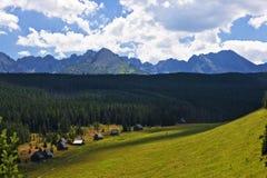 Panorama der polnischen Tatra Berge Stockbilder