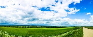 Panorama der russischen Natur Lizenzfreies Stockbild