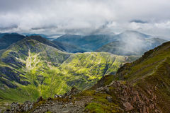 Panorama der schottischen higlands Stockbild