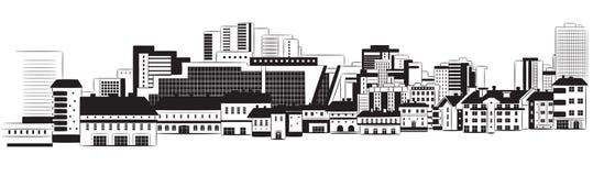 Panorama der Stadt stock abbildung