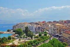Panorama der Stadt, Korfu Stockbilder
