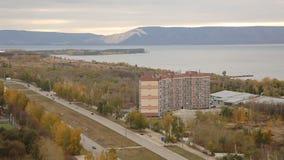 Panorama der Stadt Togliatti mit 20 Böden stock video footage
