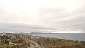 Panorama der Stadt Togliatti mit 20 Böden stock footage