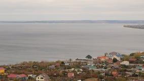 Panorama der Stadt Togliatti mit 20 Böden stock video