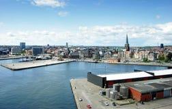 Panorama der Stadt von Aarhus (Dänemark) Stockbilder